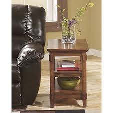 Power Chairside End Table Laflorn Brown Black Power Chairside End Table Z T127 668 Ashley