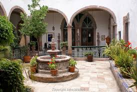spanish style house plans with interior courtyard stock photos photography of san miguel de allende mexico