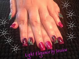 light elegance gel nails nail art zebra stripes and cheetah print