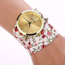 pink bracelet watches images 2018 new ladies watch women white pink watch flower cloth straps jpg