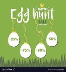 easter egg sale easter egg hunt sale royalty free vector image
