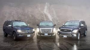 qx80 vs lexus full size luxury suvs comparison test lincoln navigator vs