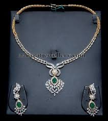 simple diamond sets simple diamond necklace diamond indian jewelry and