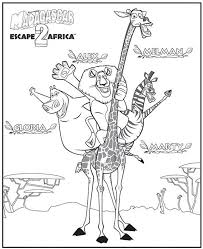 madagascar 2 escape 2 africa coloring pages 27 free printable