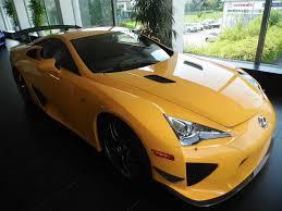 yellow lexus lfa lexus