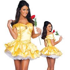 beast halloween costume ladies girls belle princess dress fairy tale beauty beast fancy