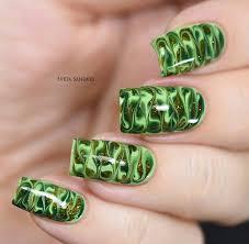dry marble nail art needle drag nails nail designs gallery