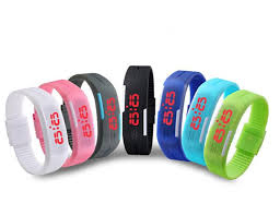 rubber bracelet watches images Newest fashion soft silicon rubber sport waterproof watches led jpg
