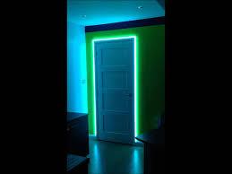 led picture frame light led ideas led colour changing door frame youtube