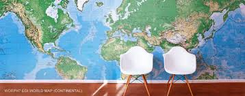 Large Wall Murals Wallpaper by World Map Wall Murals Large Wall Maps
