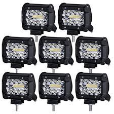 led work lights for trucks liteway led pods 8x70w triple row led light bar 4 inch spot flood