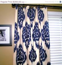 Navy Patterned Curtains Curtain Blue Pattern Curtains Throughout Navy And Navy Blue