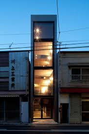 Small Narrow House Plans Long And Narrow House Squeezed Between Two Buildings Tokyo