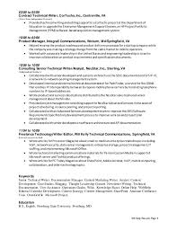 Sample Writer Resume by Creative Technical Writer Resume Resume Template 2017