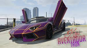 Lamborghini Aventador Tron - ksi lamborghini aventador tron skin vehicules pour gta v sur