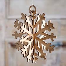 dimensional laser cut snowflake ornament wood cutouts