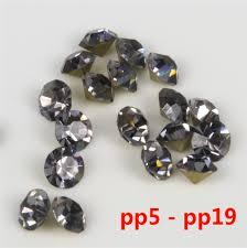 online buy wholesale china rhinestone from china china rhinestone size pp7 pp19 color black diamond loose pointback glass chaton rhinestones china quality 1400 pcs