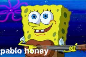 Radiohead Meme - jonny greenwood and thom yorke approve of spongebob memes about
