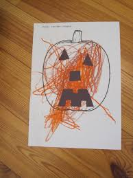easy halloween jack o lantern craft preschool education for kids