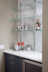 Glass Shelves Kitchen Cabinets Bar Glass Shelves Home Bar Contemporary With Bar Bar Chairs Bar