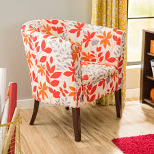 orange accent chair with arms modern chairs quality interior 2017