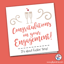 Engagement Congratulations Card Congratulations On Your Engagement Gilly U0026 Rob