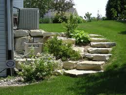Landscape Ideas For Sloping Backyard Landscape Designs For Hilly Or Sloping Yards Badger Land Renovation