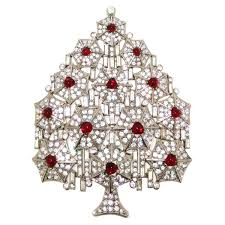 large christmas tree brooch by cristobal london at 1stdibs