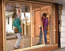 How To Install Barn Door Hardware Hometime How To Porches Installing Screens And Sliding Doors