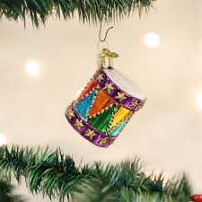 colorful drum ornament glass tree ornaments drummer
