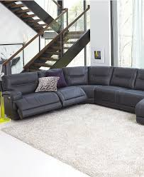 Leather Motion Sectional Sofa Caruso Leather Power Motion Sectional Sofa Living Room Furniture