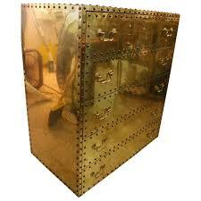 vintage brass chest of drawers dresser by sarreid ltd hollywood
