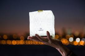 solar powered lantern lights the solight solarpuff solar powered lantern provides off grid light