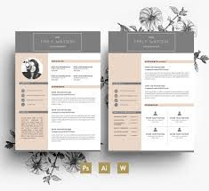 Resume Indesign Template 2 Page Resume Template Resume For Your Job Application