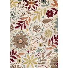 5x8 area rugs tayse rugs deco ivory 5 ft 3 in x 7 ft 3 in transitional area