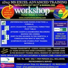 Runescape Experience Table Ms Advanced Excel Training Workshop U2013 Corpmantra Academy