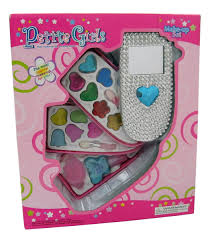 amazon com petite girls cell phone shaped cosmetics play set