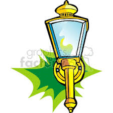 royalty free gold outdoor light 153606 vector clip image eps
