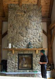 extraordinary river rock fireplace images design inspiration cool river rock fireplace veneer photo decoration ideas