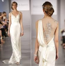 silk wedding dress ines disanto silk cadice empire waist wedding gown recent bridal