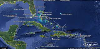 Caribbean Ocean Map by Marine Vessel Traffic Marine Traffic Google Earth