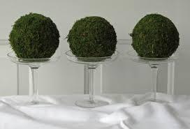 Pomander Balls Moss Pomander Balls Set Of 3 4 Inch Moss Balls For Home Or