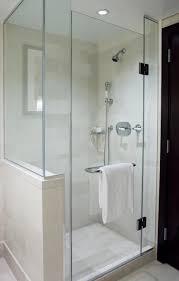 Shower Glass Door Bathroom Remodel Shower Door And Half Wall For The Home