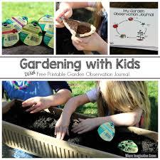 preschool gardening ideas with free plant observation journal