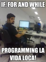 Funny Programming Memes - if for and while programming la vida loca programmer ricky