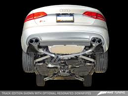 Audi Q5 8hp - awe tuning b8 b8 5 audi s4 track edition cat back exhaust system