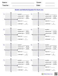 slope of a line worksheets finding the equation of a line worksheet answers jennarocca