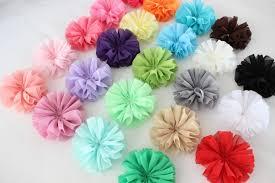 flowers for headbands 7cm ballerina flowers chiffon flowers fabric flowers for headbands