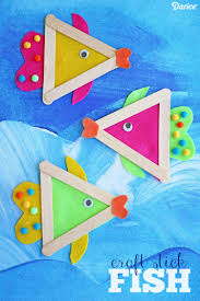diy fish craft with felt and craft sticks darice craft sticks