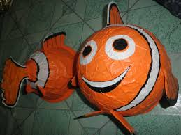clownfish paper mache inspired by disney pixar animation finding